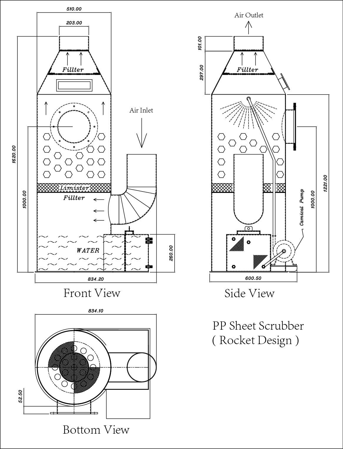 scrubber pp sheet